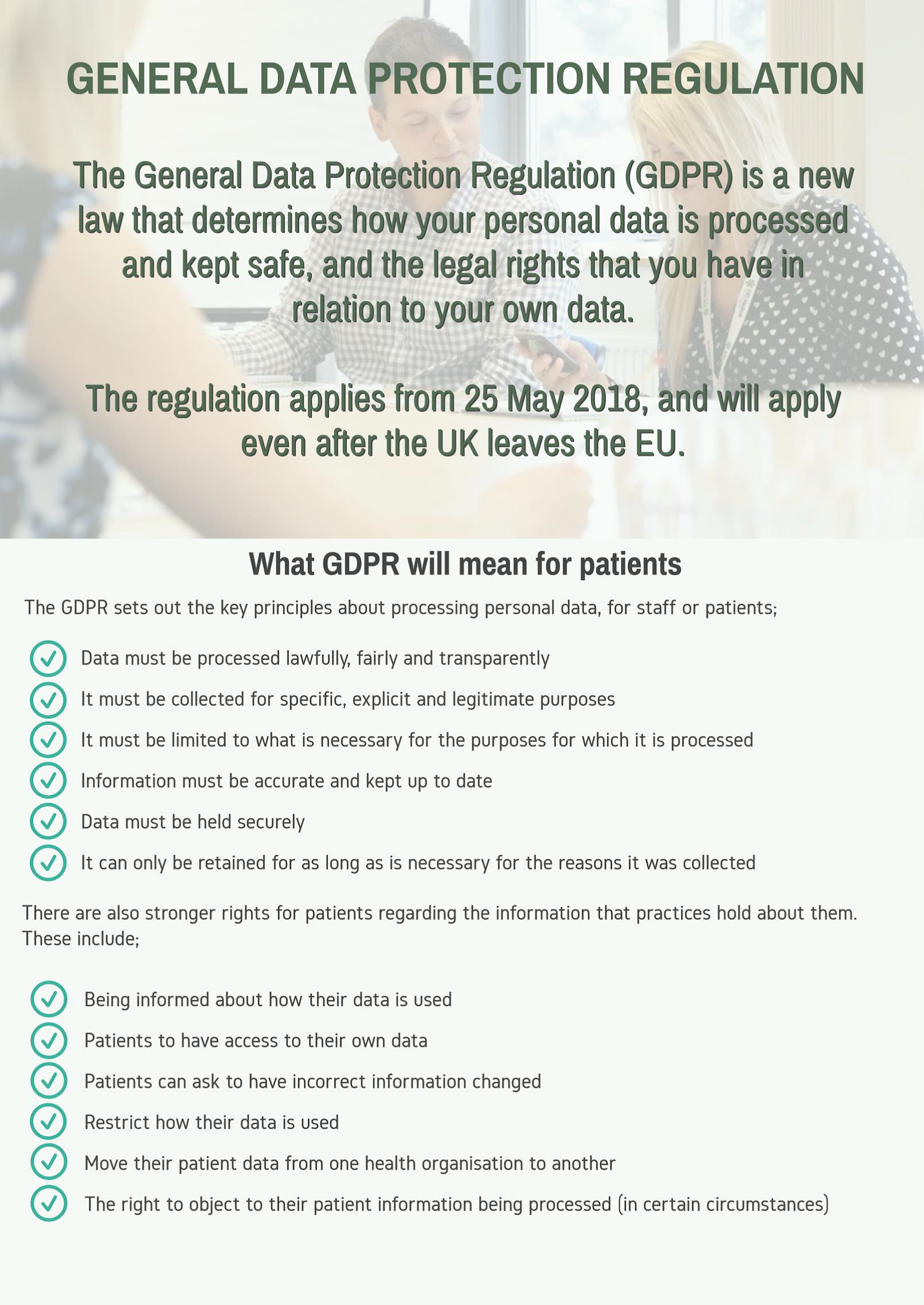 Notice regarding General Data Protection Regulation after Brexit